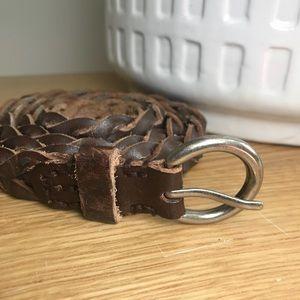 AEO leather braided belt